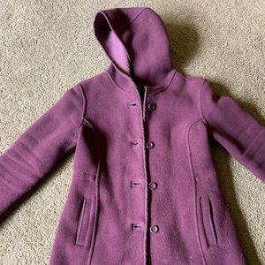LL Bean fleece pea coat